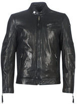 TRUST VICTORY men's Leather jacket in Black