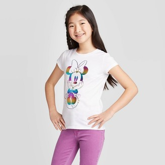 Minnie Mouse Girls' Rainbow Graphic T-Shirt -