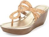 Donald J Pliner Celene Cork Wedge Sandal, Platino