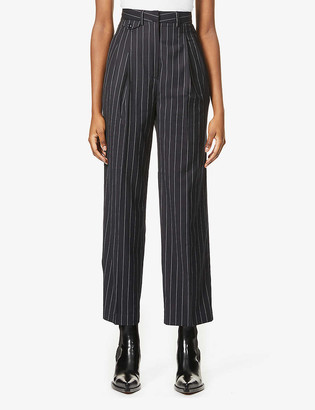 Frankie Shop Boy striped woven high-rise trousers
