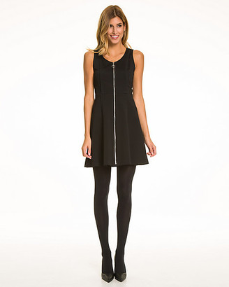 Le Château Knit Exposed Zipper Dress