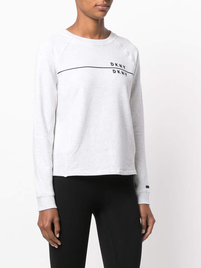 DKNY long-sleeved branded sweatshirt