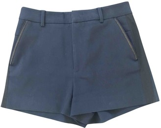 Zadig & Voltaire Navy Cotton Shorts