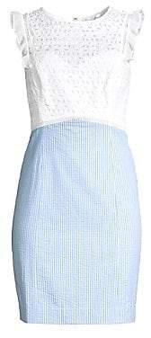 Lilly Pulitzer Women's Maya Stripe & Lace Eyelet Sheath Dress