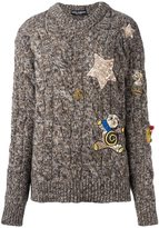 Dolce & Gabbana embellished marled jumper