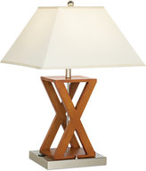Pacific Coast X-Shape Wood Outlet Table Lamp