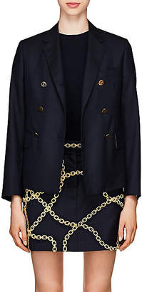 Thom Browne Women's Wool Double-Breasted Blazer - Navy