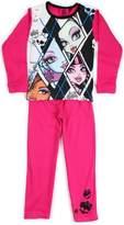 Monster High Girls Full Length Dark Pink Pajama 6