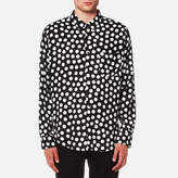 Ami Dots Print Large Fit Shirt Black/white