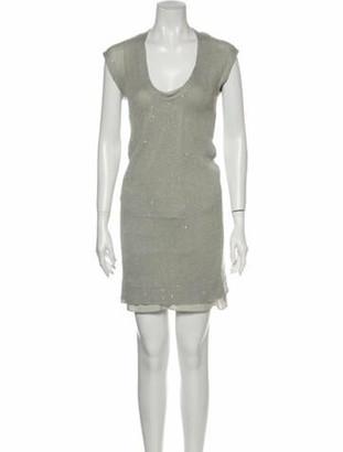 Brunello Cucinelli Linen Mini Dress Grey
