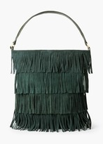 Mango Outlet Fringed Suede Bag