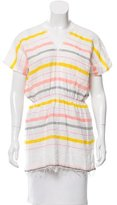Lemlem Fringe-Trimmed Striped Top