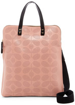 Orla Kiely Sixties Stem Punched Leather Juniper Bag