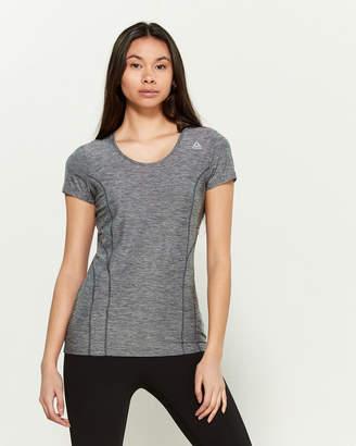 Reebok Grey Slim Fit Dynamic Performance Short Sleeve Tee