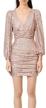 Maje Ripaillette Sequin Mini Dress