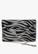 Zebra Mesh Envelope Clutch