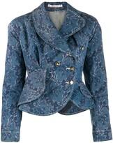 Vivienne Westwood Pre Owned floral print denim jacket