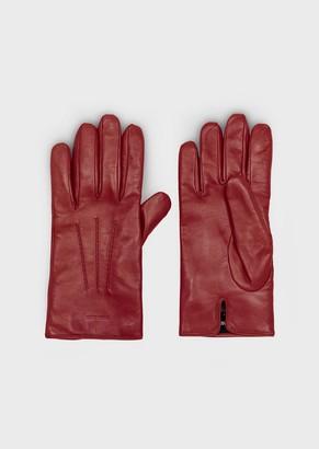 Giorgio Armani Gloves In Pure Cashmere Knit
