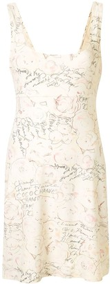 Chanel Pre Owned 1998 Camellia print stretch dress