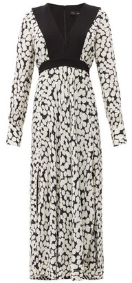 Proenza Schouler Splatter-print Crepe Maxi Dress - White Multi