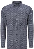 John Lewis Feather Print Shirt, Indigo