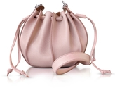 Jil Sander Pinch Small Leather Bucket Bag