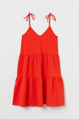 H&M V-neck Jersey Dress - Orange