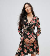 Oh My Love Tall Tie Waist Wrap Dress In Floral Print