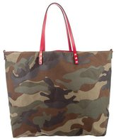 Valentino Rockstud Camouflage Reversible Tote
