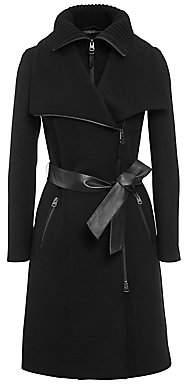 Mackage Women's Nori Double-Collar Wool-Blend Coat