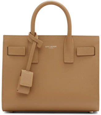 Saint Laurent Brown Nano Sac De Jour Tote