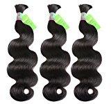 Eecamail 8A Hair Brazilian Virgin Body Wave bulk For Braiding Bulk No Attachment 9 Bundles 30 inch Virgin Human Hair Natural Color 100g/Bundle