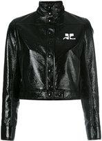 Courreges Vynil jacket - women - Cotton/Polyurethane/Acetate/Cupro - 36