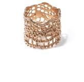 Aurelie Bidermann Rose gold-plated lace ring