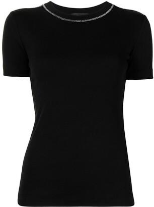 Fabiana Filippi fine knit round neck T-shirt