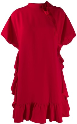 RED Valentino Tied Neck Shift Dress