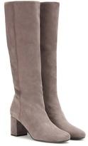 Saint Laurent Babies Suede Knee-high Boots