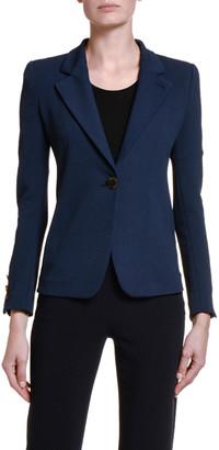 Giorgio Armani Crepe Jersey Blazer Jacket