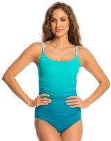 Speedo Women's Ombre Shirred One Piece Swimsuit 8135933