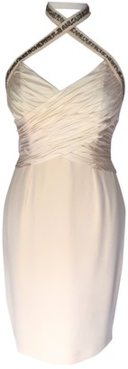 Jean Louis Scherrer Jean-louis Scherrer Ecru Silk Dress for Women Vintage