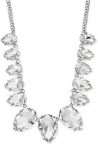 Thalia Sodi Silver-Tone Teardrop Crystal Necklace, Only at Macy's