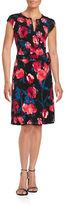 Ivanka Trump Floral Mock-Wrap Dress