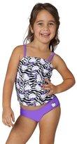 Hello Kitty Girls' Zebra Kitty Tankini Two Piece Set