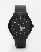 Mondaine Helvetica Ny Leather Strap Watch