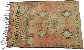 One Kings Lane Vintage Vintage Tribal Terracotta Rug - Habibi Imports - terracotta, green