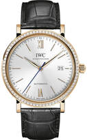 IWC IW356515 Portofino stainless steel automatic leather strap watch
