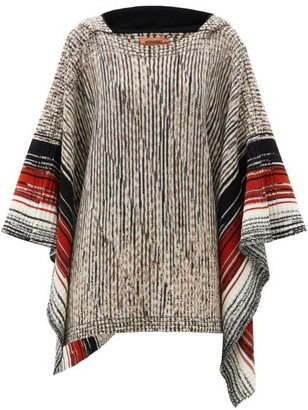 Missoni Space-dyed Wool Hooded Poncho - Brown Multi
