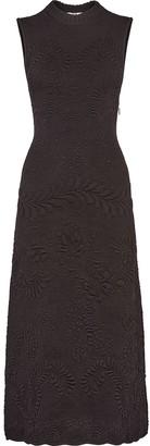 Fendi Floral-Jacquard Sleeveless Midi Dress