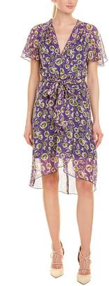 Anna Sui Botanic Bouquet Silk A-Line Dress