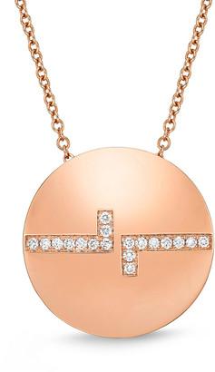 Memoire L Collection 18K Rose Gold 0.12 Ct. Tw. Diamond Necklace
